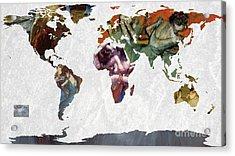 World Map  Degas 1 Acrylic Print by John Clark