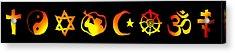 World Religion Symbols Acrylic Print