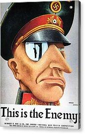 World War II Poster, 1942 Acrylic Print by Granger