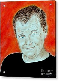 Wrestling Legend Jerry The King Lawler Acrylic Print by Jim Fitzpatrick