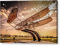 Wright Flyer At Sunset Acrylic Print by Chris Smith