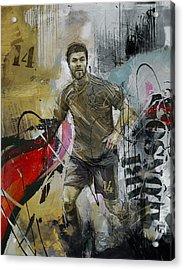 Xabi Alonso - C Acrylic Print by Corporate Art Task Force
