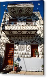 Xysta House Acrylic Print by Aiolos Greek Collections