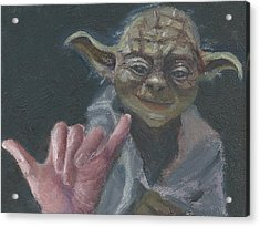 Y Is For Yoda Acrylic Print