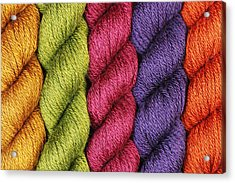 Yarn With A Twist Acrylic Print