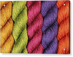 Yarn With A Twist Acrylic Print by Jim Hughes
