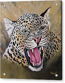 Acrylic Print featuring the painting Yawn by Anthony Mwangi