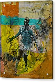 Yaya Toure Acrylic Print by Corporate Art Task Force