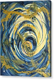 Yellow Spiral Acrylic Print by Christiane Schulze Art And Photography