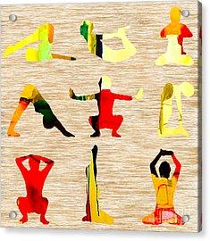 Yoga Poses Acrylic Print by Marvin Blaine