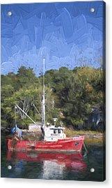 York Harbor Maine Painterly Effect Acrylic Print