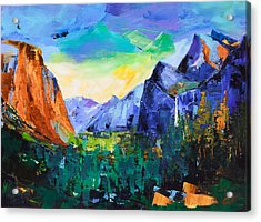 Yosemite Valley - Tunnel View Acrylic Print by Elise Palmigiani