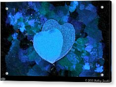 You Changed My Life Blue Acrylic Print