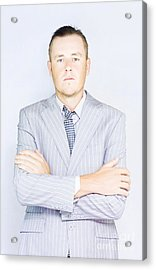 Young Businessman Front View Acrylic Print