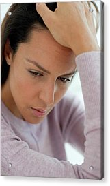 Young Woman Feeling Unwell Acrylic Print by Science Photo Library