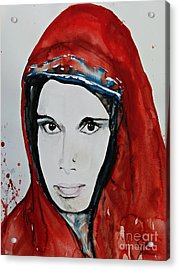 Young Woman From India - Painting Acrylic Print by Ismeta Gruenwald