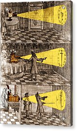 Zahn Light Projection Apparatus 1685 Acrylic Print by Science Source