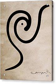 Zen Bird Acrylic Print