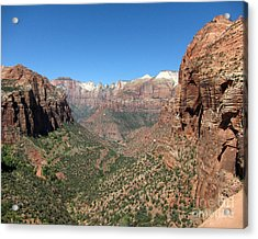 Zion Canyon Overlook Acrylic Print