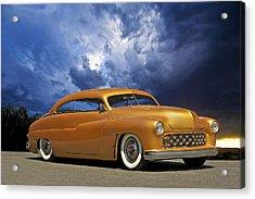 1950 Mercury Custom Acrylic Print by Dave Koontz