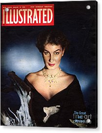 1950s Uk Illustrated Magazine Cover Acrylic Print by The Advertising Archives