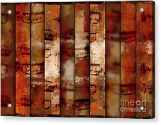 10-bar Orange Pastiche Acrylic Print