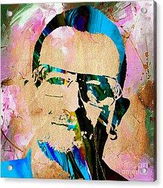 Bono U2 Acrylic Print by Marvin Blaine