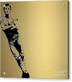 Bruce Springsteen Gold Series Acrylic Print