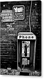 10 Cent Phone Call Acrylic Print by Greg Jackson