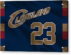 Cleveland Cavaliers Uniform Acrylic Print by Joe Hamilton