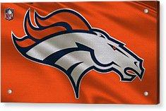 Denver Broncos Uniform Acrylic Print