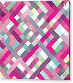 Acrylic Print featuring the digital art Geometric Art by Mike Taylor