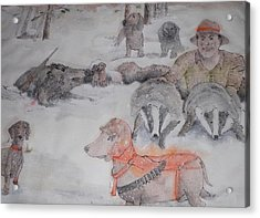 Hunting Season Comes Again Album Acrylic Print by Debbi Saccomanno Chan