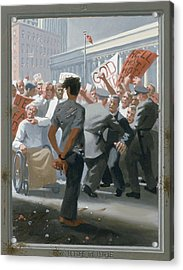 10. Jesus Before The People / From The Passion Of Christ - A Gay Vision Acrylic Print by Douglas Blanchard