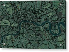 London England Street Map Acrylic Print