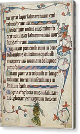 Luttrell Psalter Acrylic Print by British Library