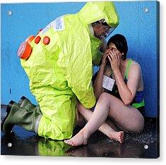 Major Emergency Decontamination Training Acrylic Print by Public Health England