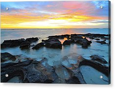10 Mile Lagoon Acrylic Print by Sally Nevin