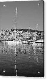 Mytilini Port Acrylic Print by George Atsametakis