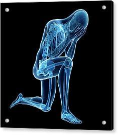 Person Kneeling Acrylic Print by Sebastian Kaulitzki