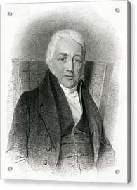Samuel Taylor Coleridge  English Poet Acrylic Print by Mary Evans Picture Library