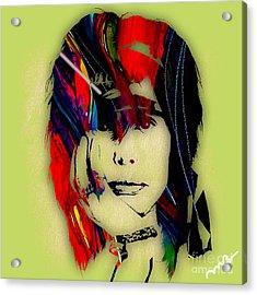 Steven Tyler Collection Acrylic Print by Marvin Blaine