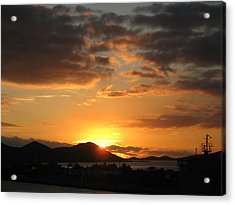 Sunset. Acrylic Print by Joyce Woodhouse