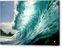 Waves Splashing In The Sea Acrylic Print by Panoramic Images
