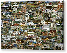100 Painting Collage Acrylic Print