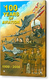 100 Years Of Aviation Acrylic Print by Michael Swanson