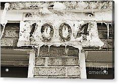 1004 Main Street Small Town Usa - Bw  Acrylic Print