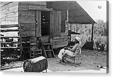 102 Year Old Woman At Her Home Acrylic Print by Underwood Archives