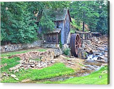 Sixes Mill On Dukes Creek Acrylic Print