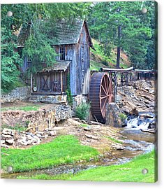 Sixes Mill On Dukes Creek - Square Acrylic Print